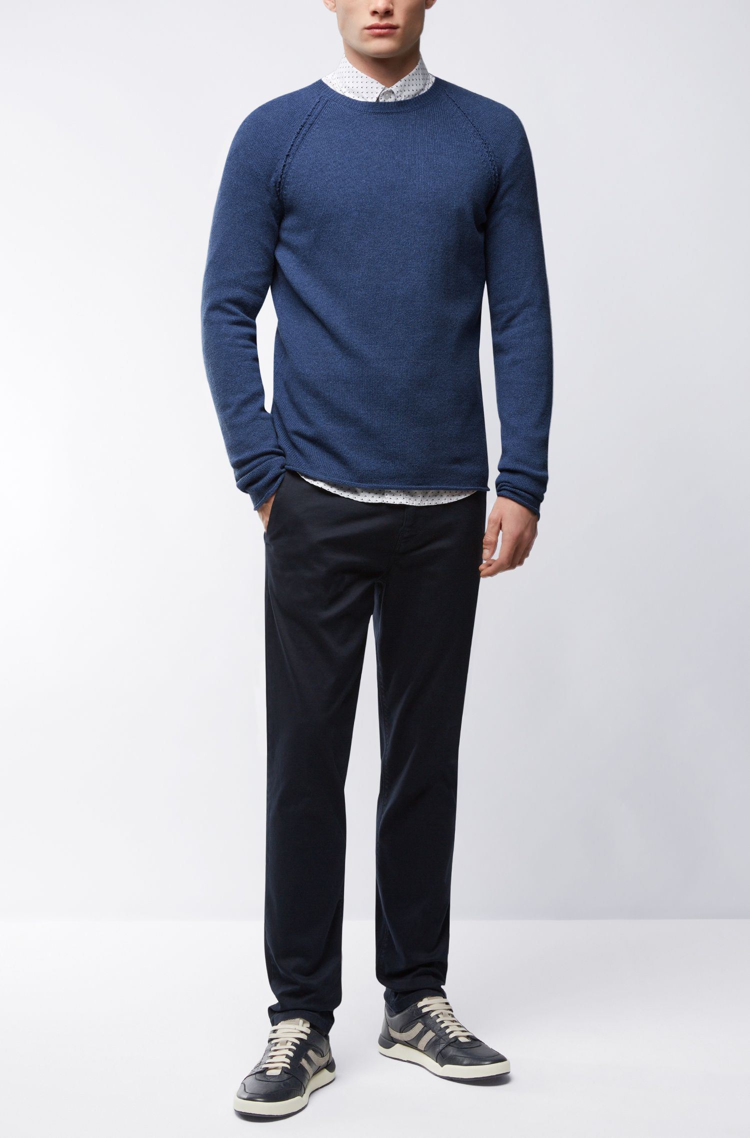 Wool-Cotton Blend Sweater | Kohedge, Dark Blue