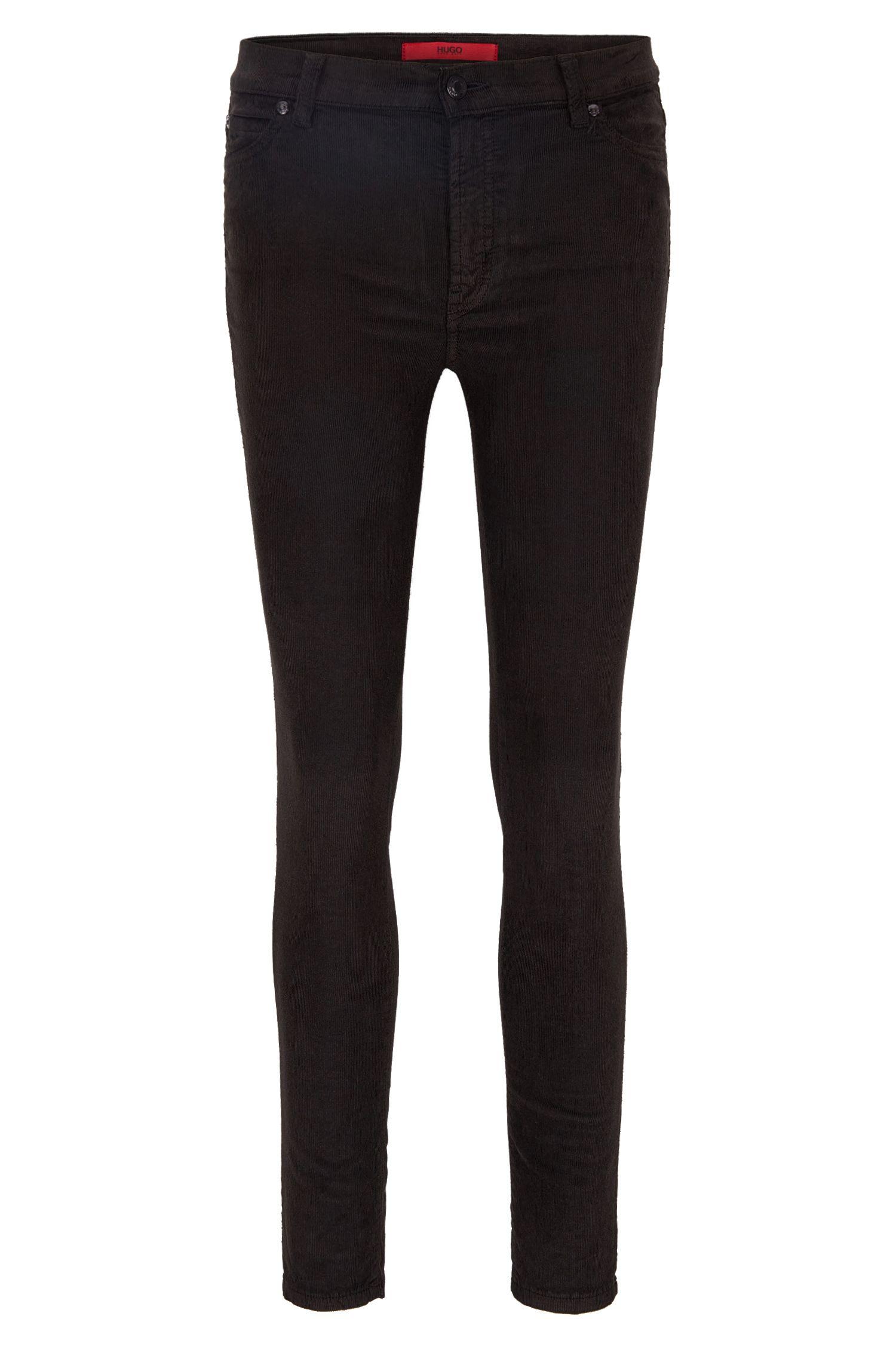 Stretch Cotton Corduroy Pants, Extra Slim Fit | Georgina