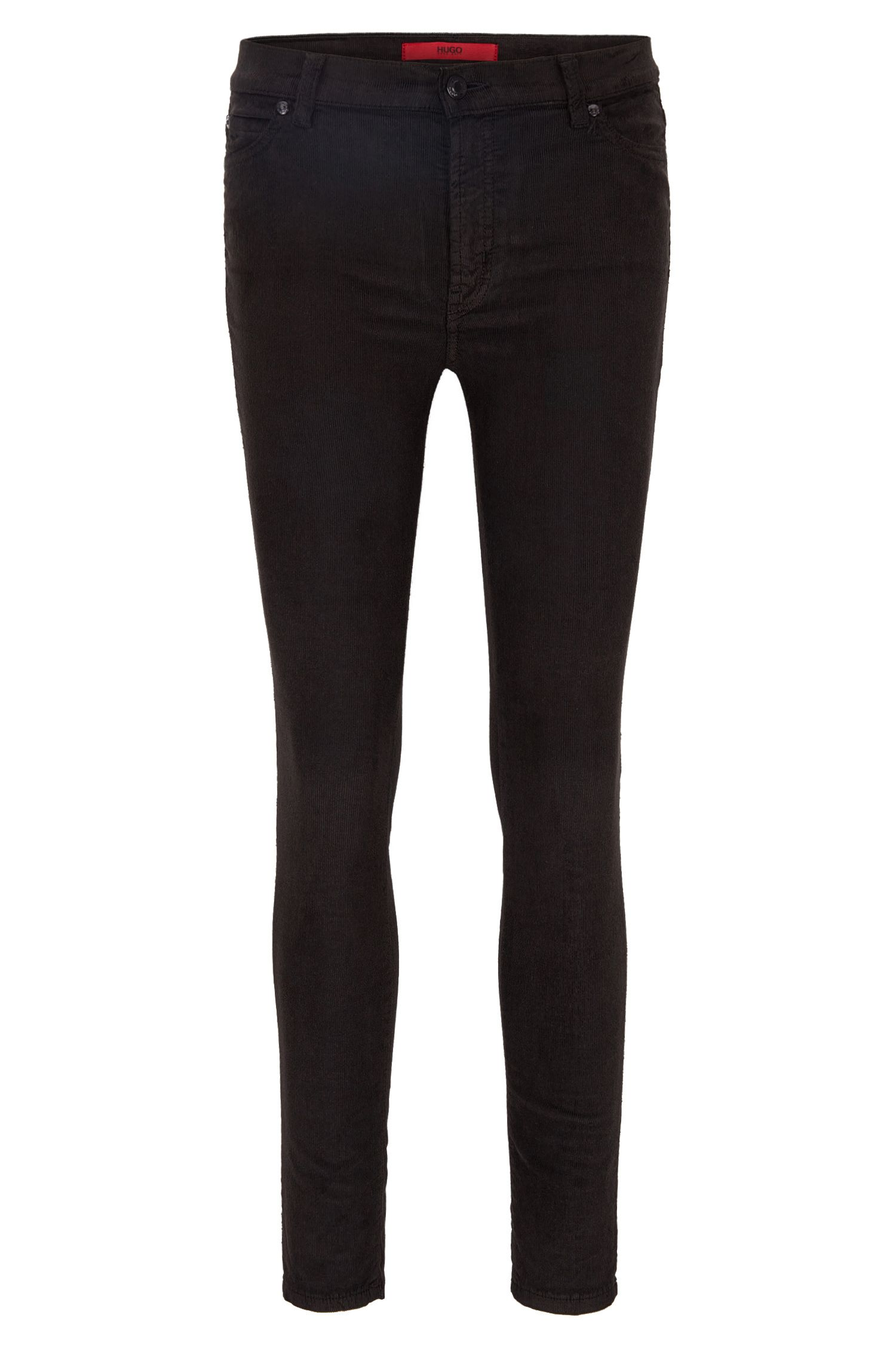 Stretch Cotton Corduroy Pants, Extra Slim Fit | Georgina