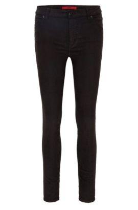 Stretch Cotton Corduroy Pants, Extra Slim Fit | Georgina, Black