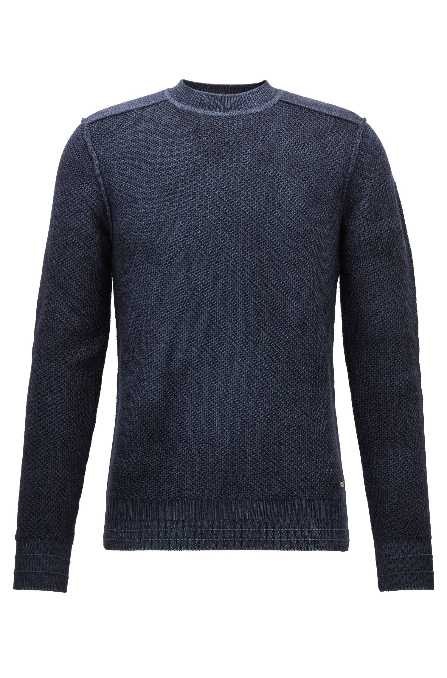 'Kalmut' | Virgin Merino Wool Sweater, Dark Blue