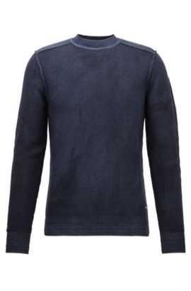 'Kalmut' | Virgin Merino Wool Sweater, Dark Blue