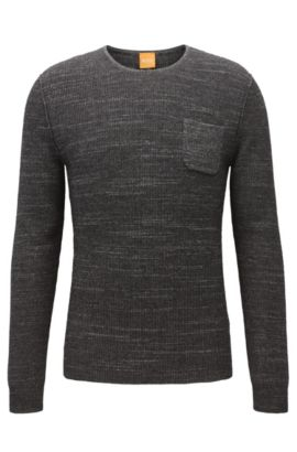'Kutask' | Cotton Blend Sweater, Black