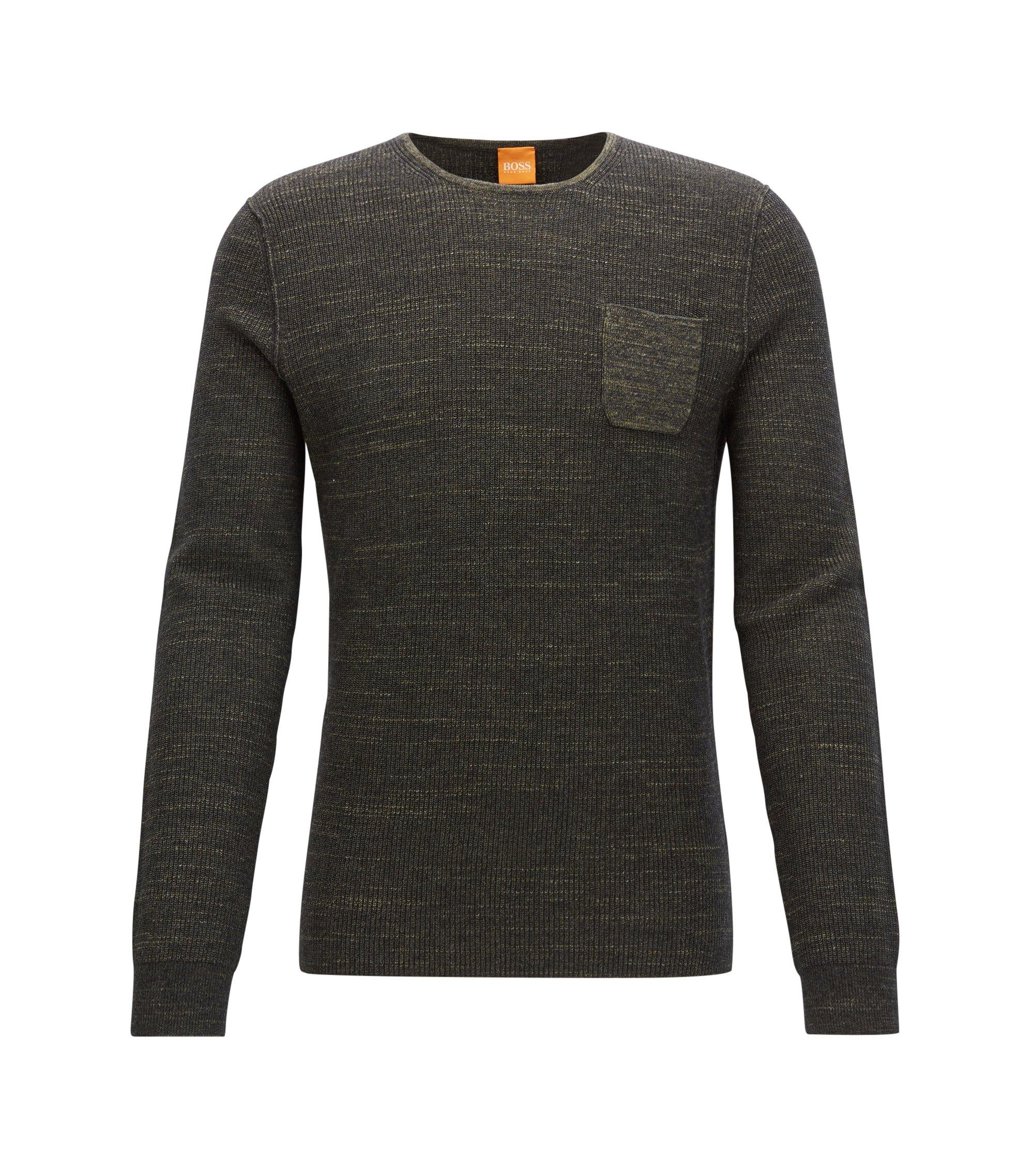 Cotton Blend Sweater   Kutask, Dark Green