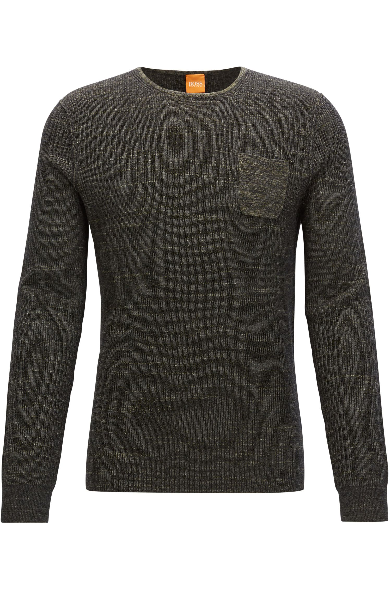 Cotton Blend Sweater | Kutask, Dark Green