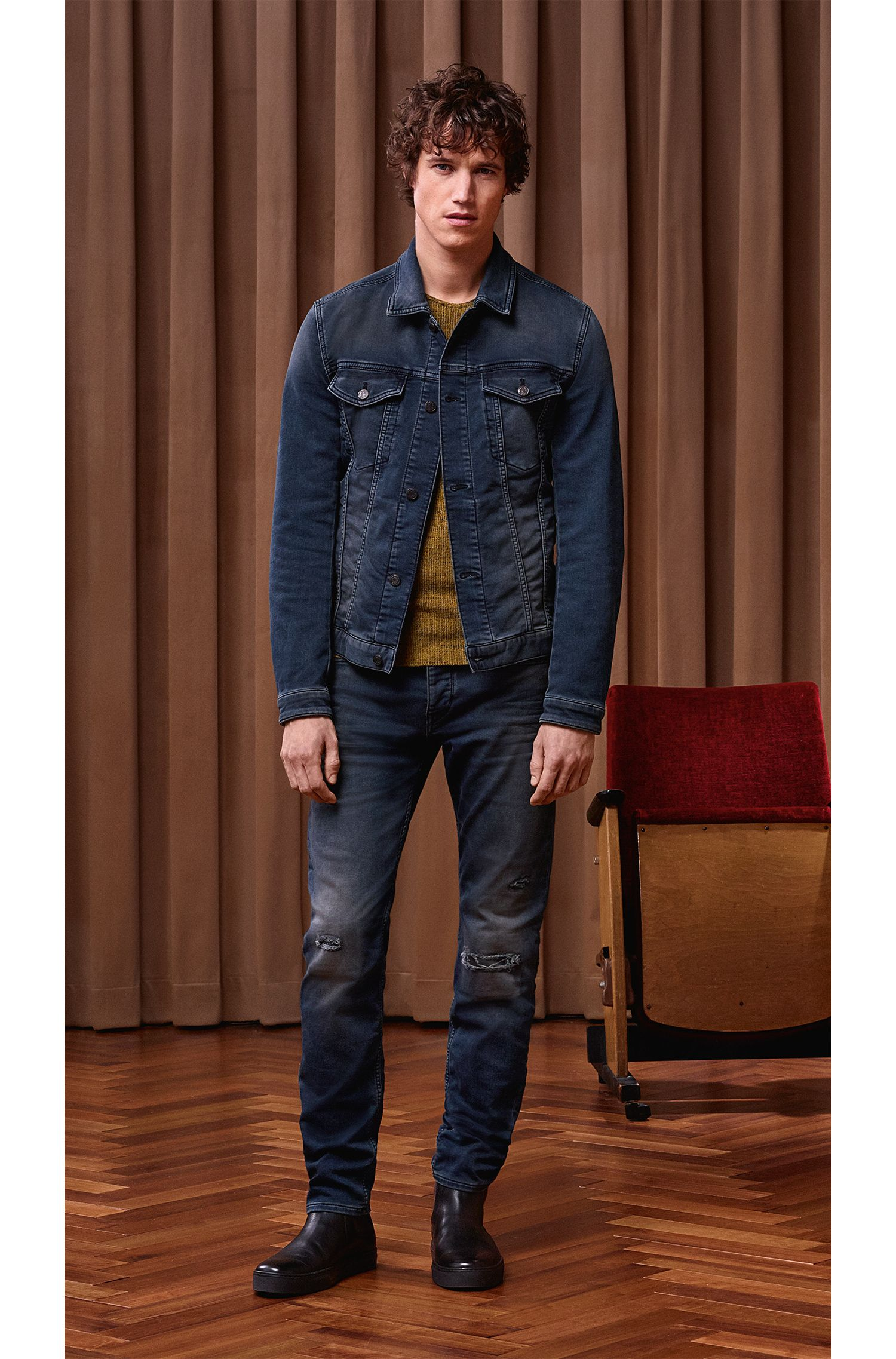 Cotton Blend Sweater | Kutask, Yellow