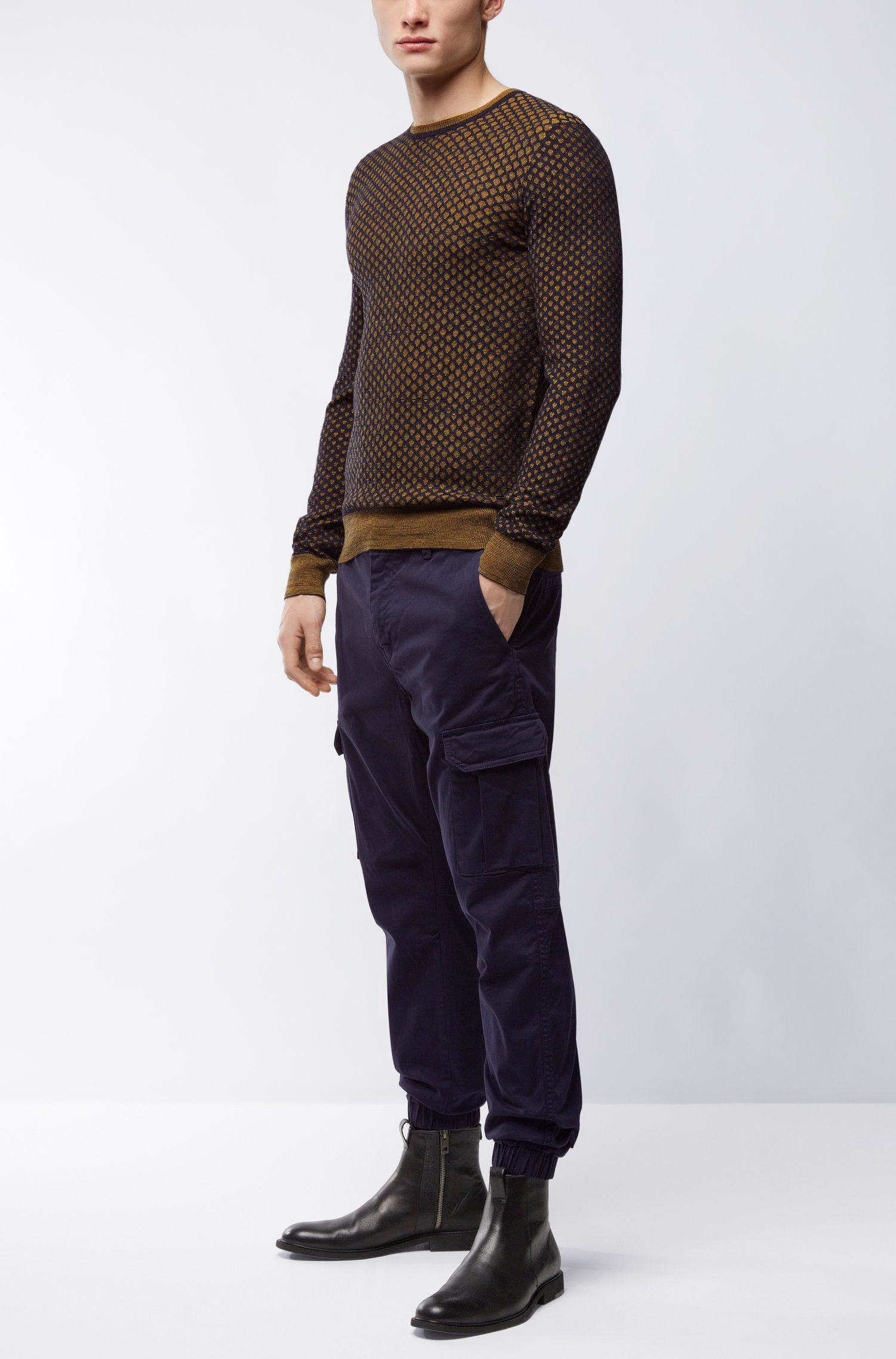 Dobby Cotton Sweater | Kewarco