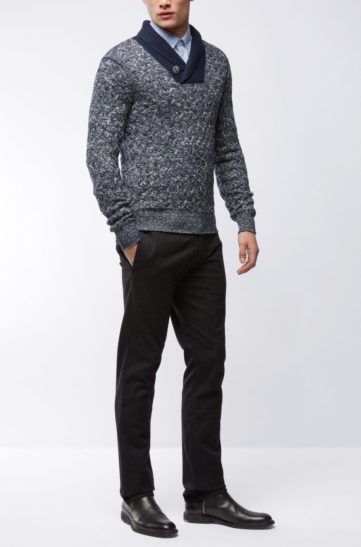 Cotton Blend Sweater | Kradunc, Dark Blue