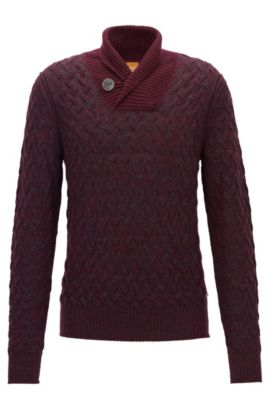 Cotton Blend Sweater | Kradunc, Open Red