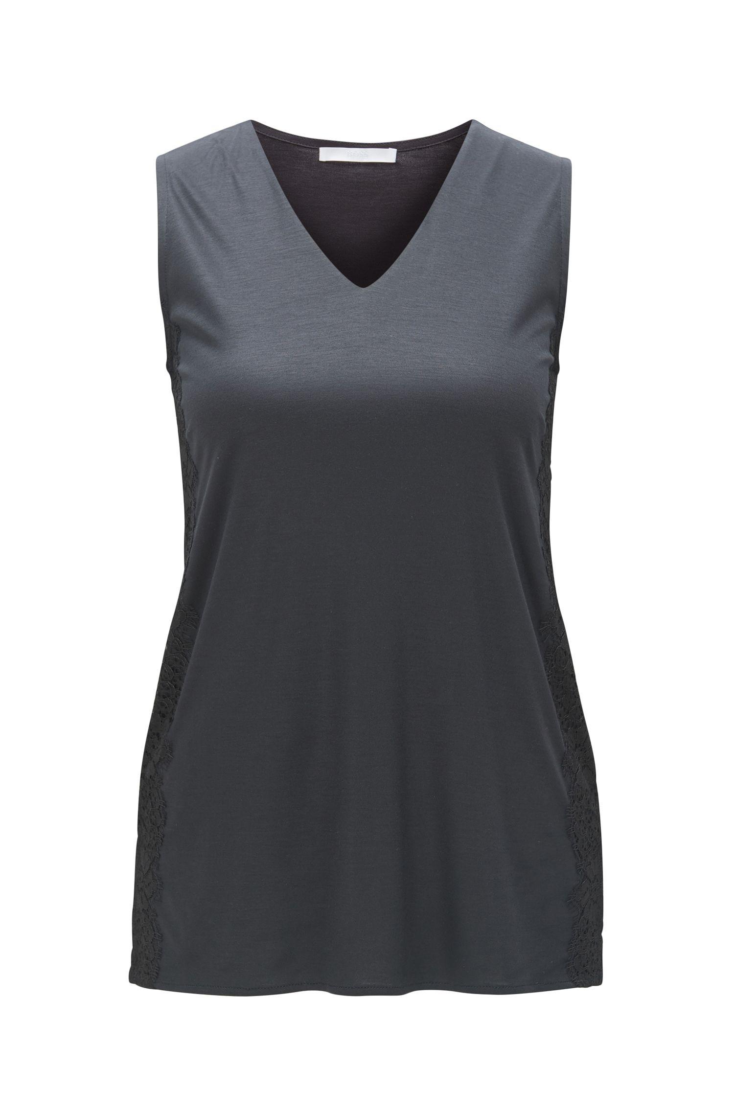 Lace-Trim Modal Top | Ellita