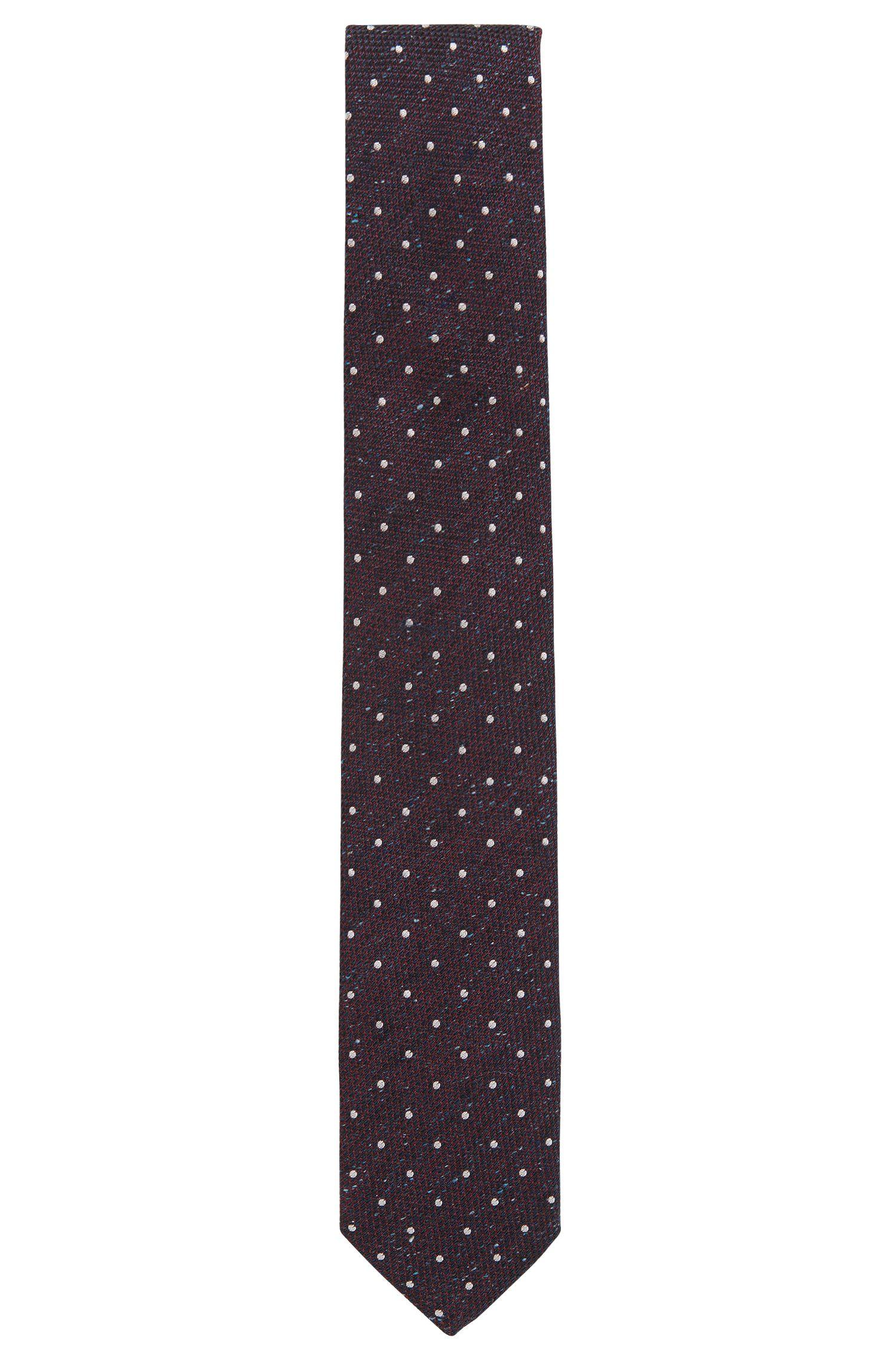 Polka Dot Silk Wool Tie, Regular | Tie cm 7