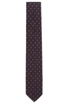 Polka Dot Silk Wool Tie, Open Purple
