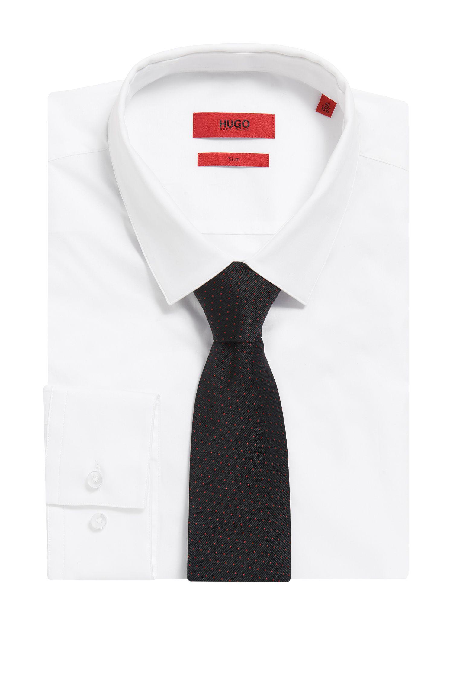 Microdot Italian Silk Tie, Black