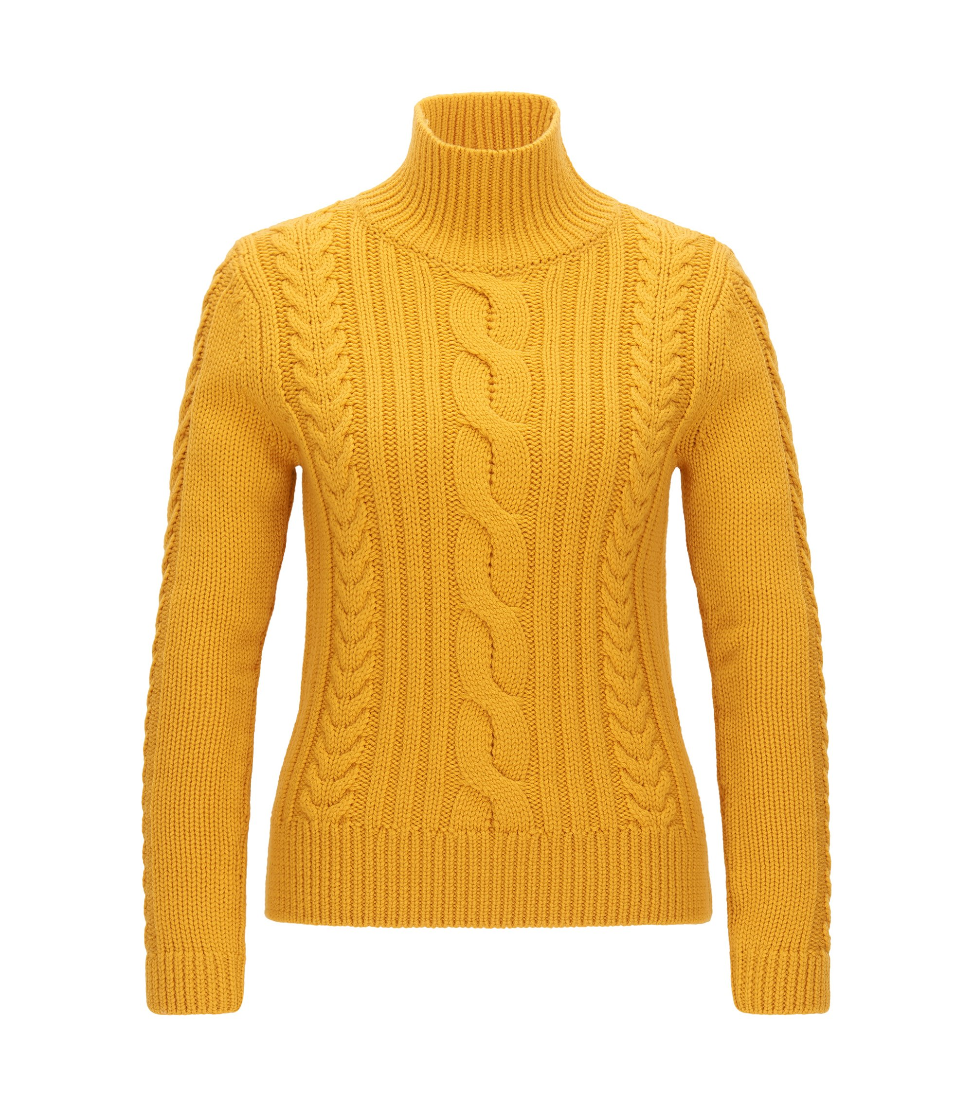 Virgin Wool Cable Knit Sweater | Samini