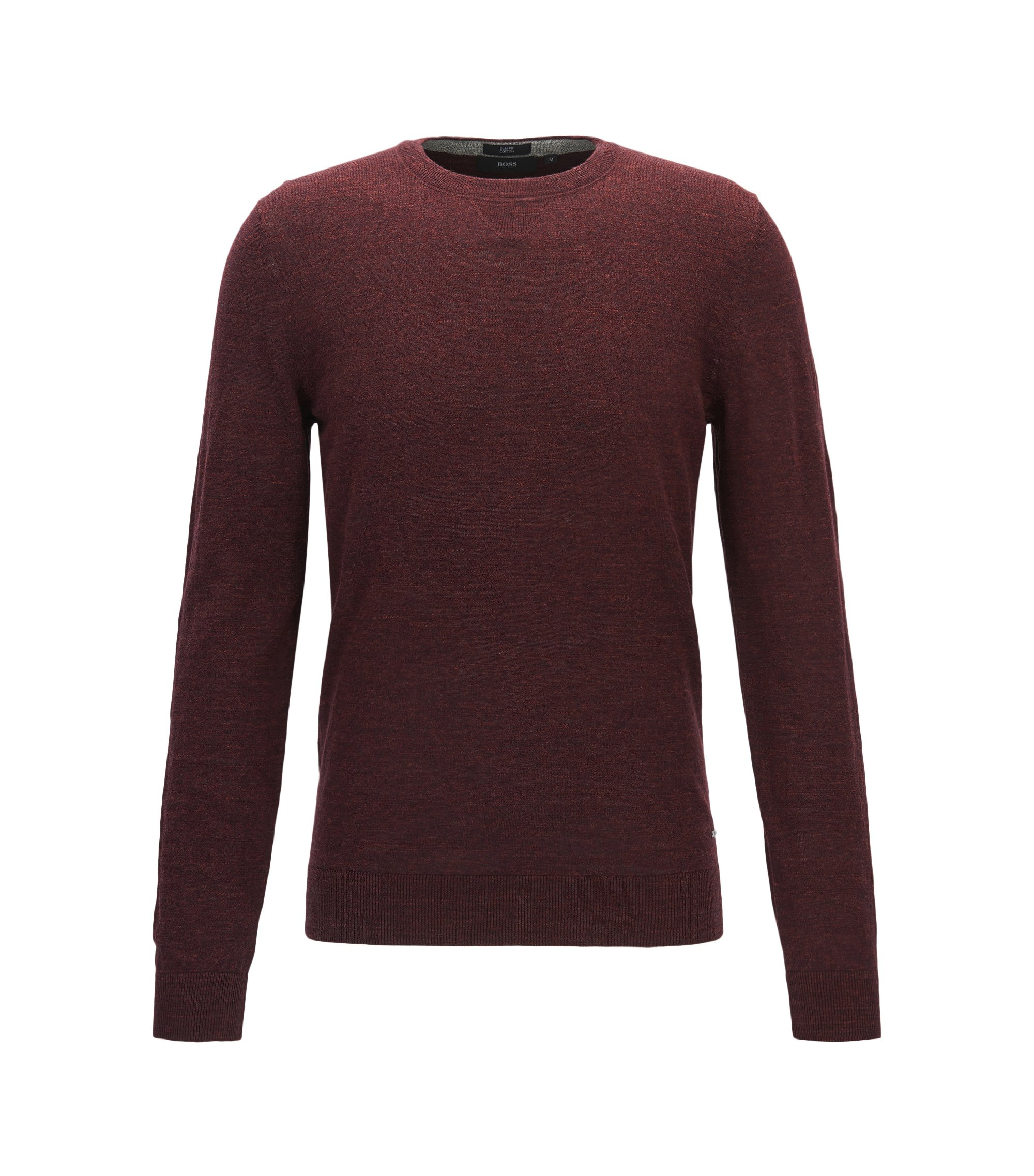 Slub Cotton Sweater | Nelino, Dark Red