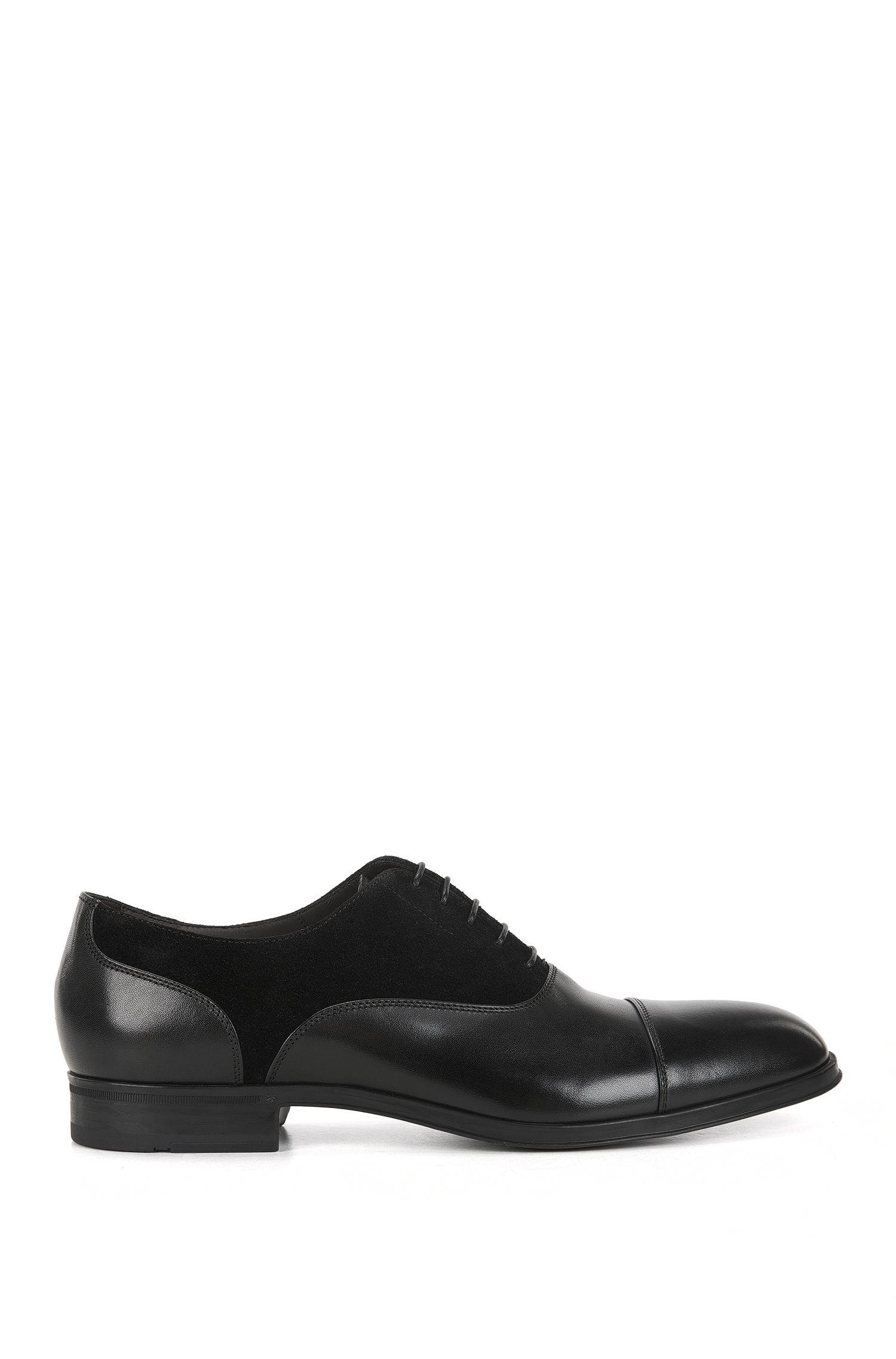 Suede & Leather Saddle Dress Shoe | Eton Oxfr Sdct
