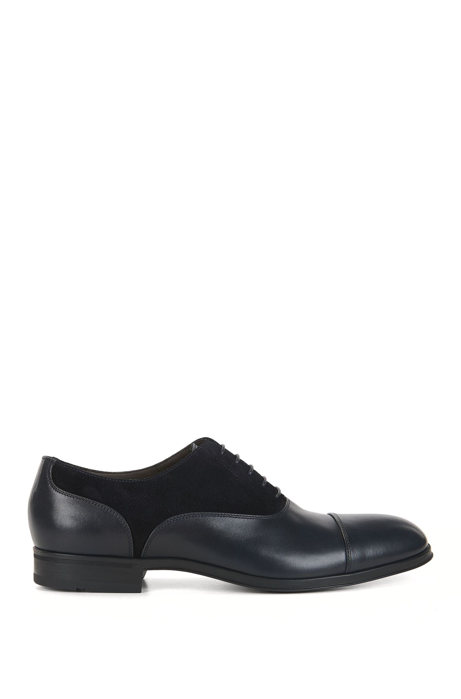 Suede & Leather Saddle Dress Shoe | Eton Oxfr Sdct