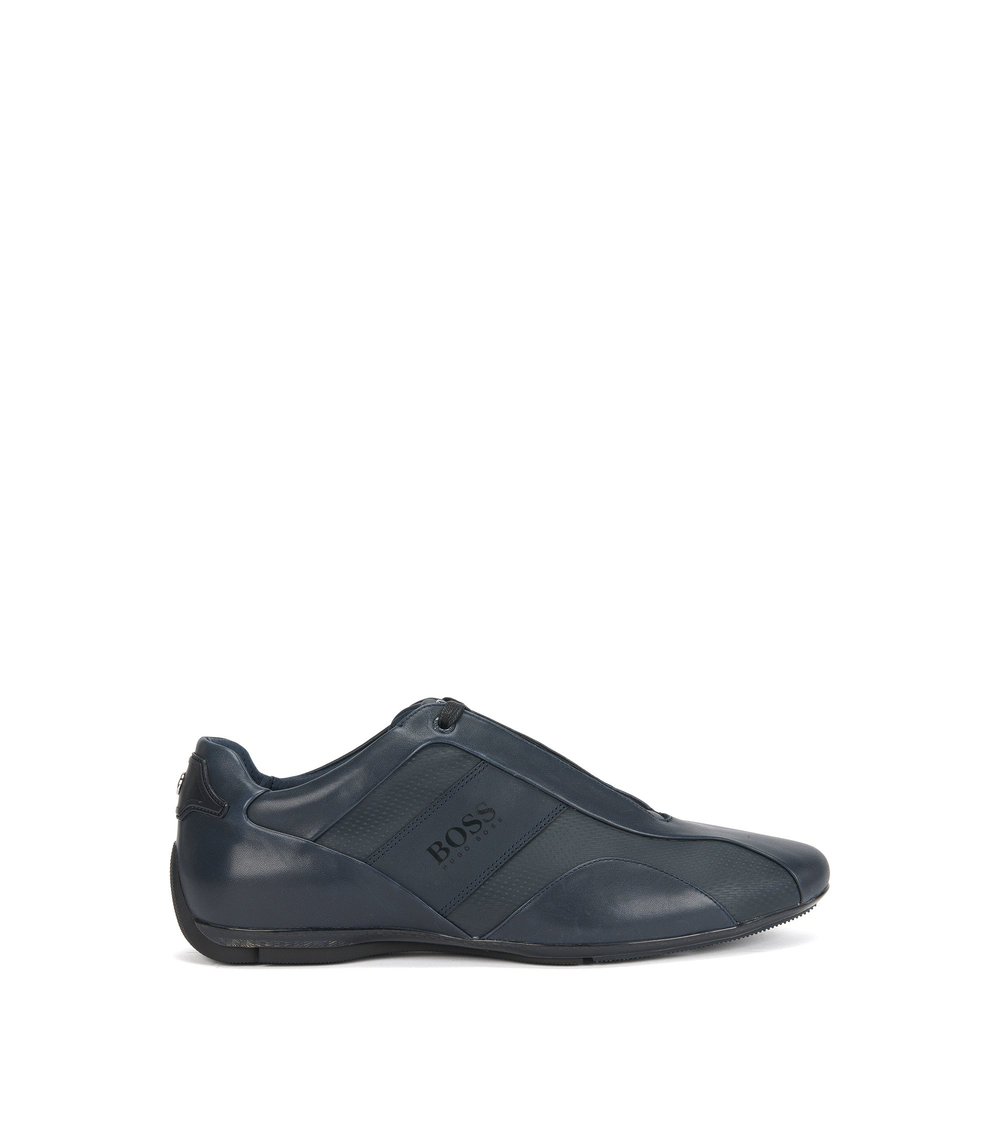 Mercedes-Benz Leather Sneaker | Sporty Lowp Mcmb, Dark Blue