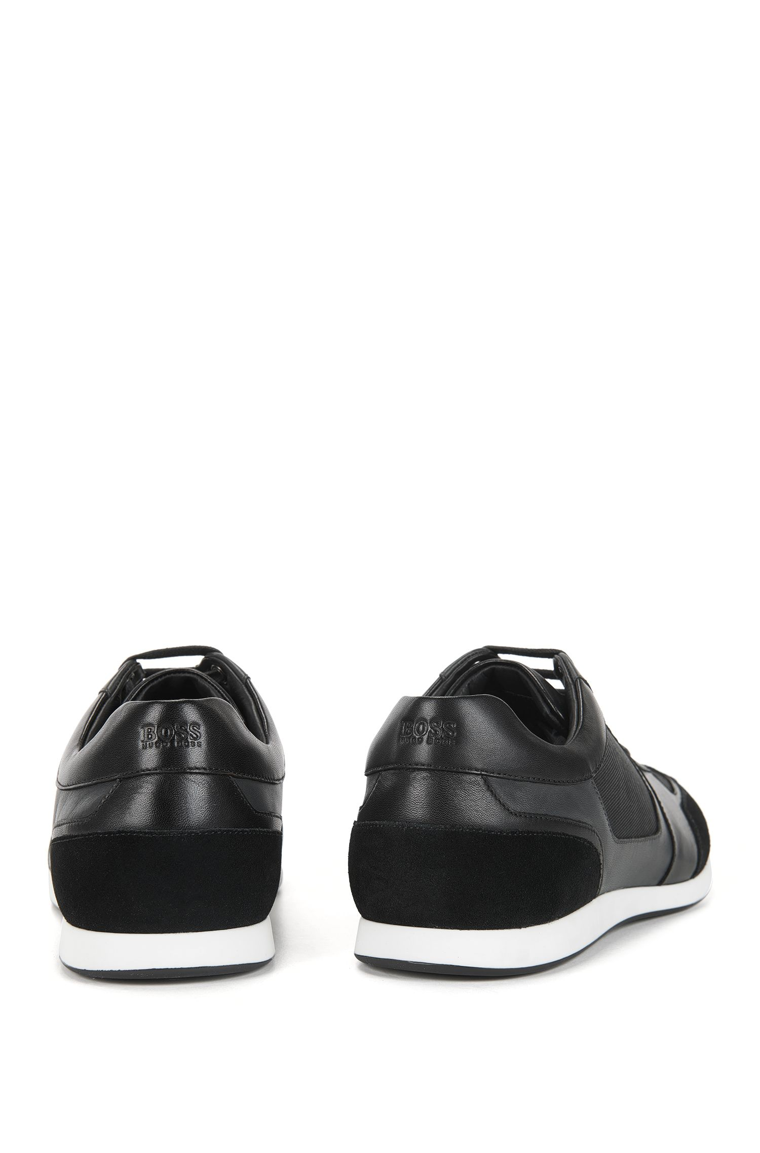 Leather & Suede Sneaker | Fulltime Lowp Mx, Black