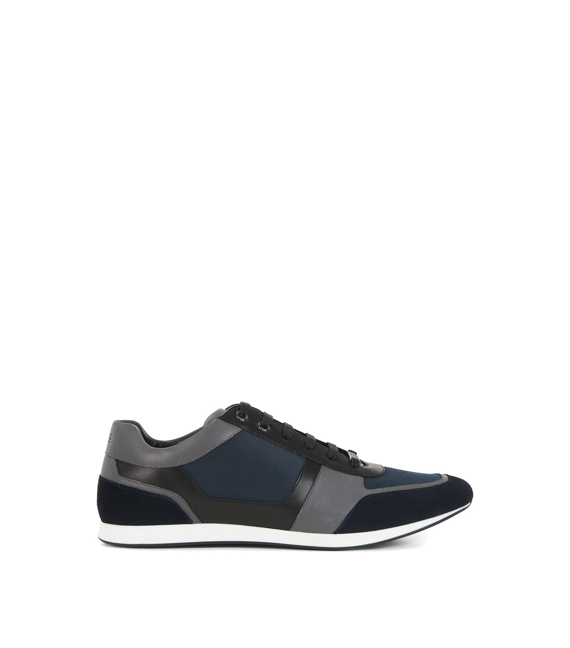 Leather & Suede Sneaker | Fulltime Lowp Mx, Dark Blue