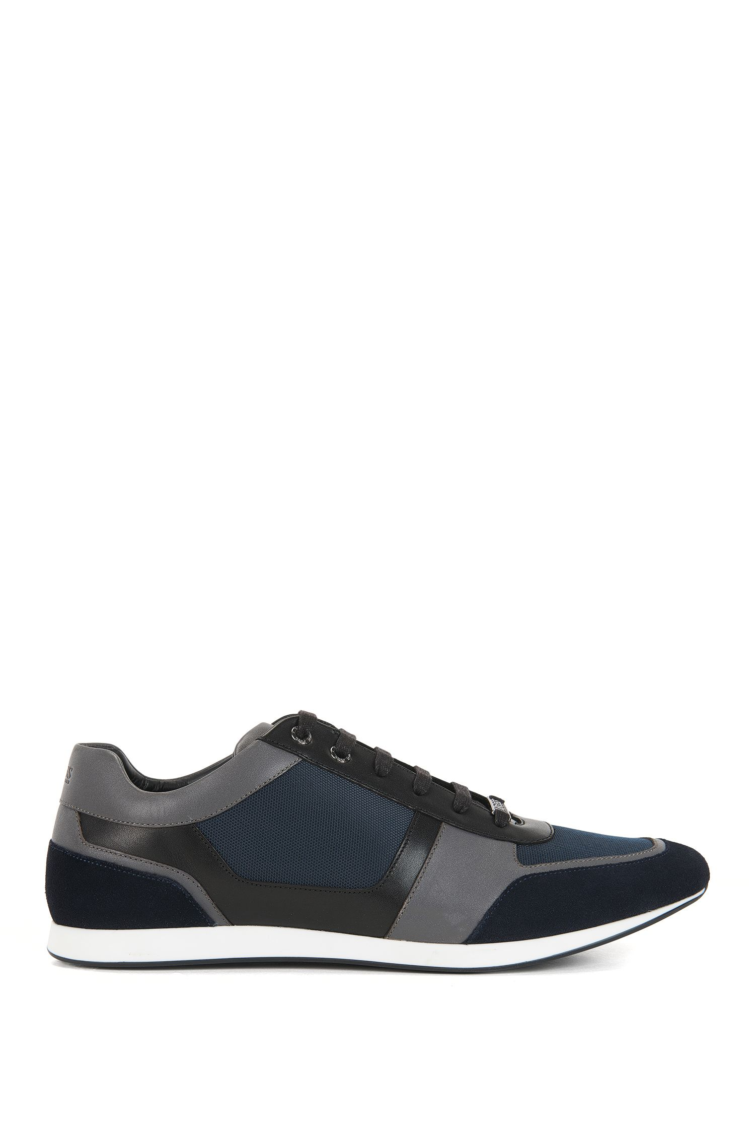 Leather & Suede Sneaker   Fulltime Lowp Mx