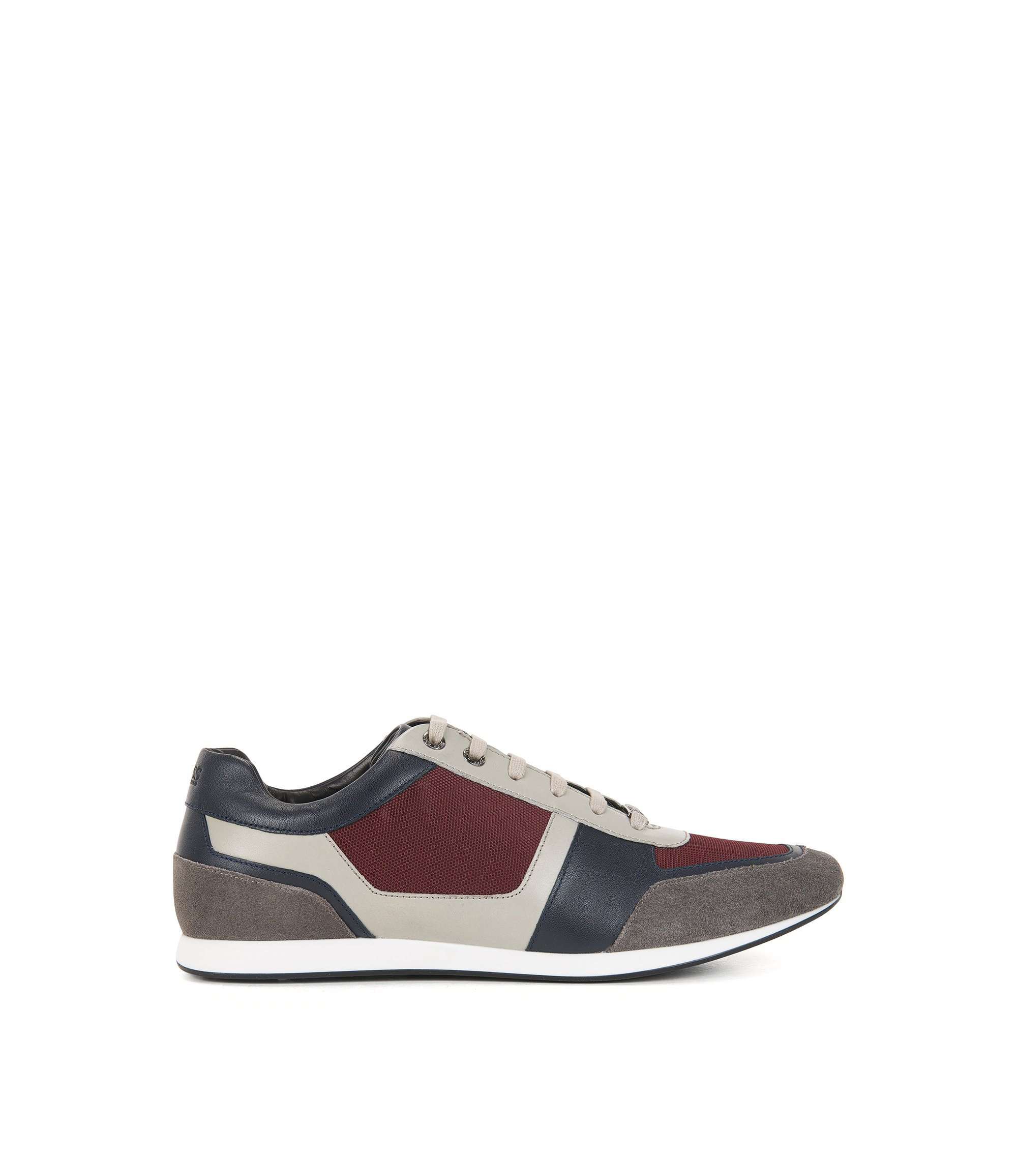 Leather & Suede Sneaker | Fulltime Lowp Mx, Red