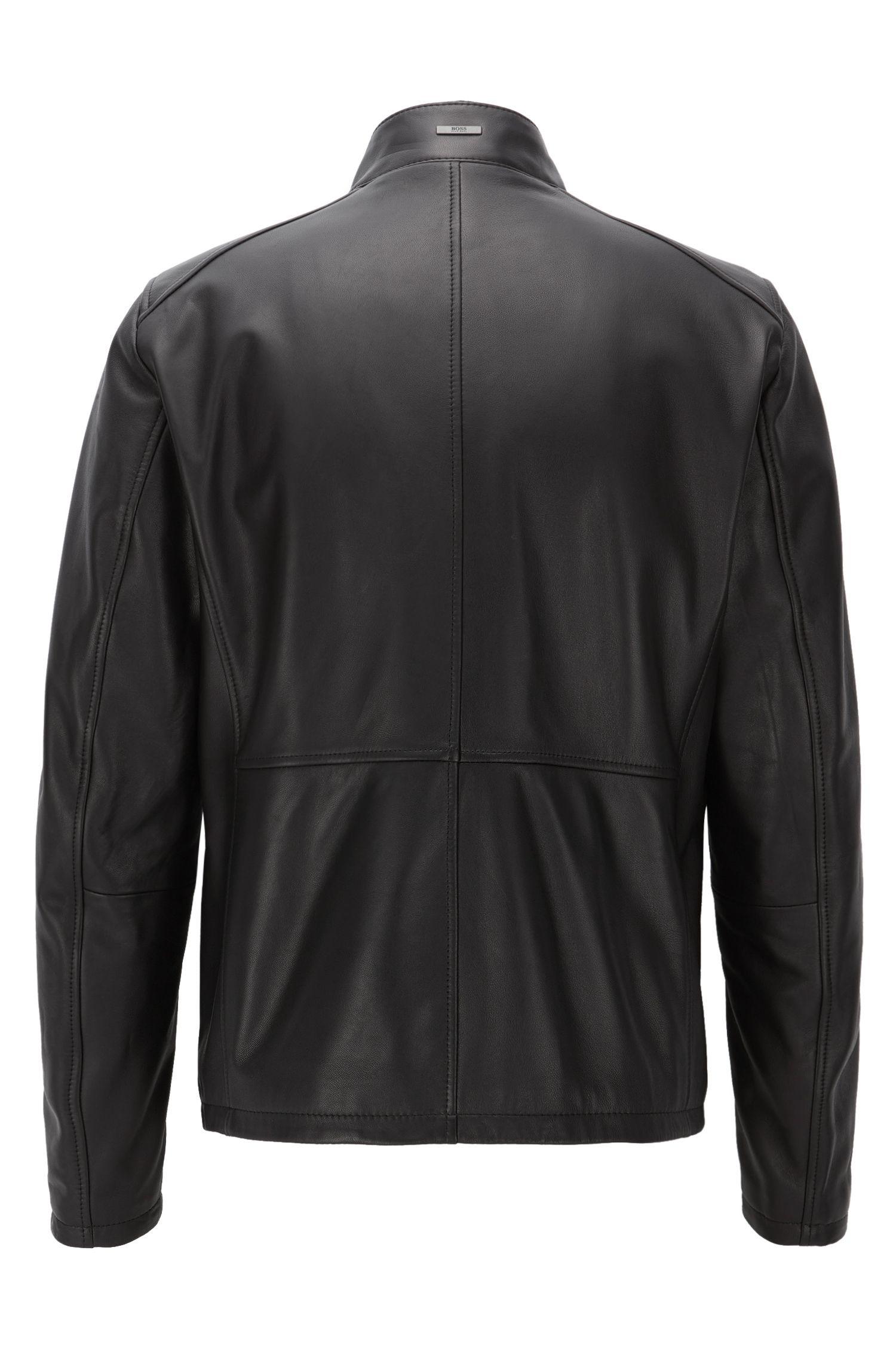 Nappa Leather Jacket | Nabino, Black