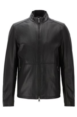 Nappa Leather Jacket | Nabino, Black