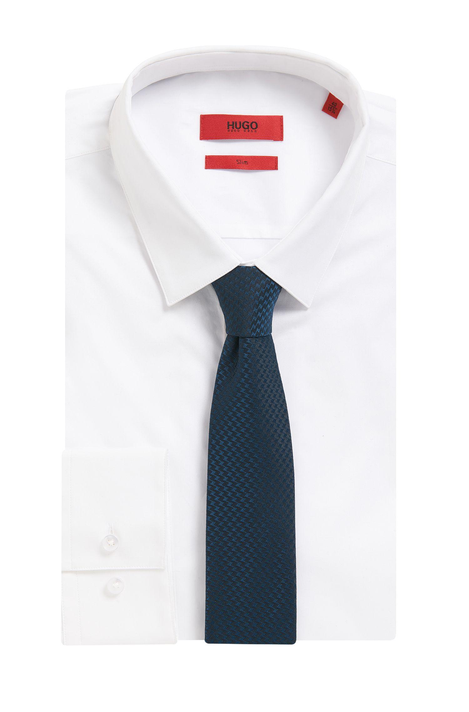 Tonal Zig Zag Italian Silk Tie
