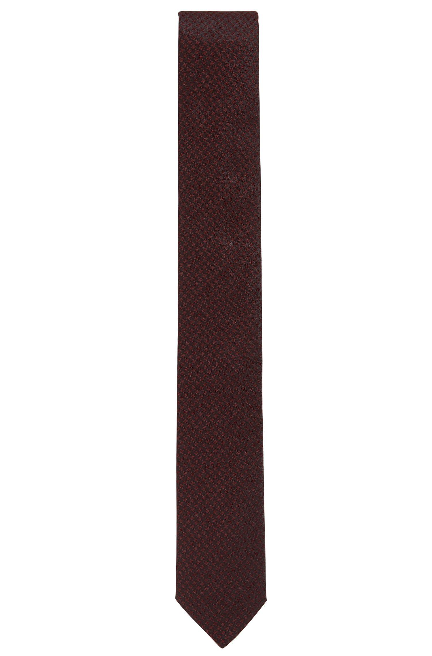 Slim, Tonal Zig Zag Silk Tie | Tie 6 cm