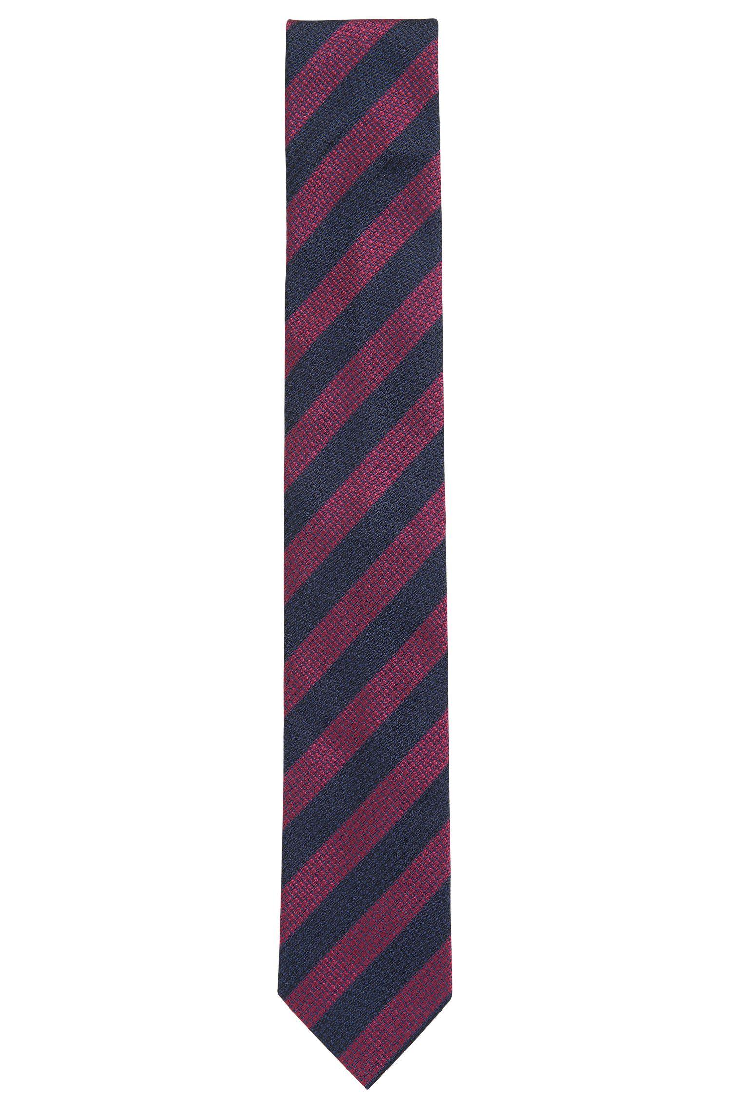 Striped Italian Silk Tie, Regular   Tie cm 7