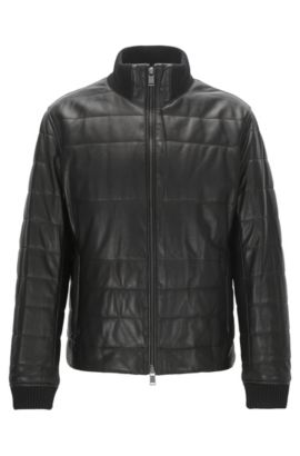 Lambskin Quilted Jacket | Neffo, Black