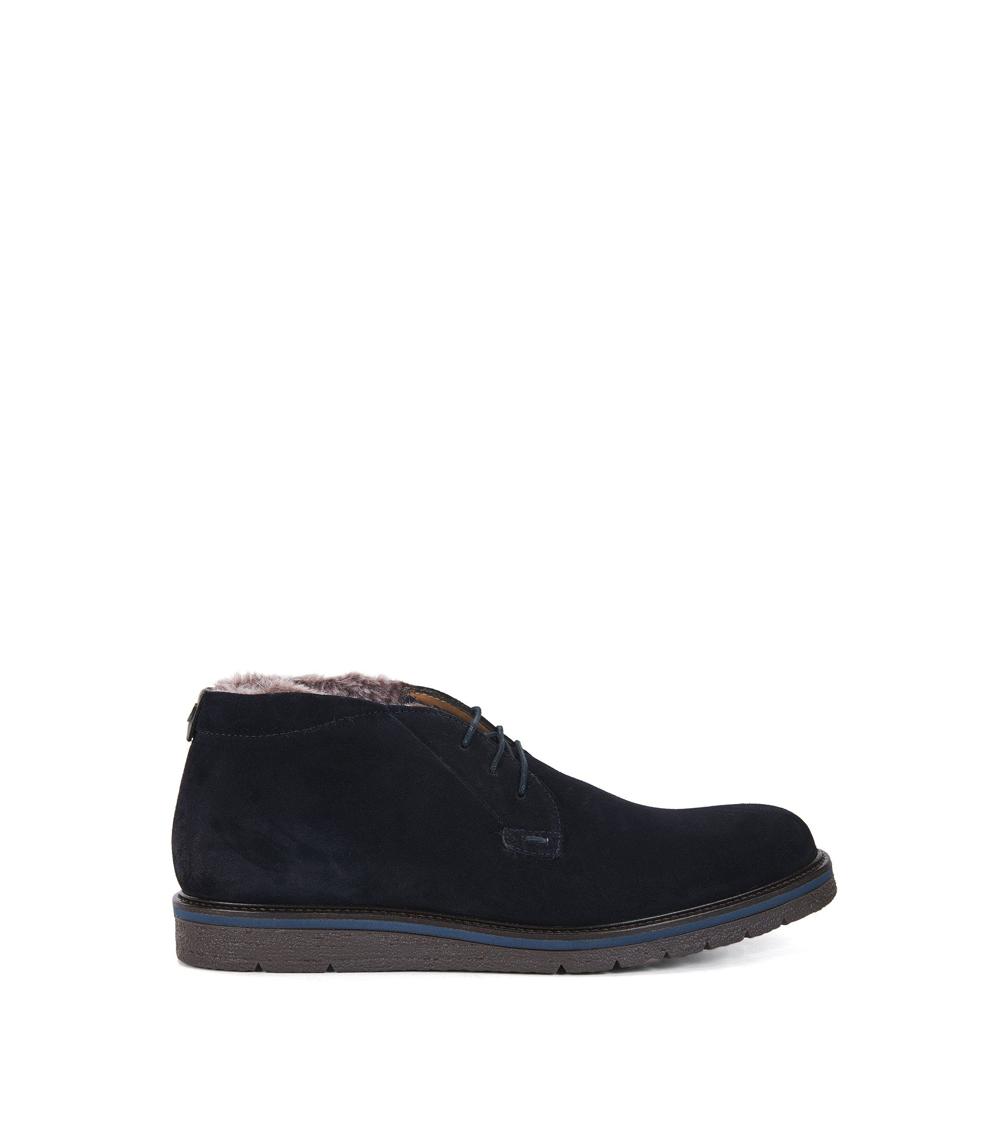 Fur-Lined Suede Desert Boot | Tuned Desb Sdfur, Dark Blue