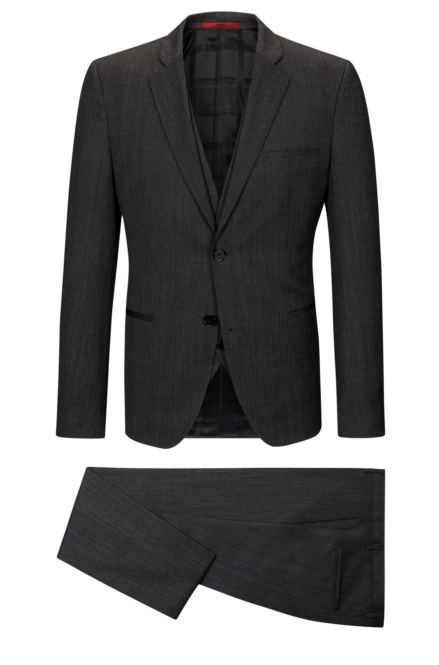 Herringbone Virgin Wool 3-Piece Suit, Extra Slim Fit | Arnin/Wilardo/Hermin