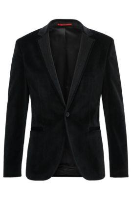 Velvet Sport Coat, Extra Slim Fit | Alwaro, Black