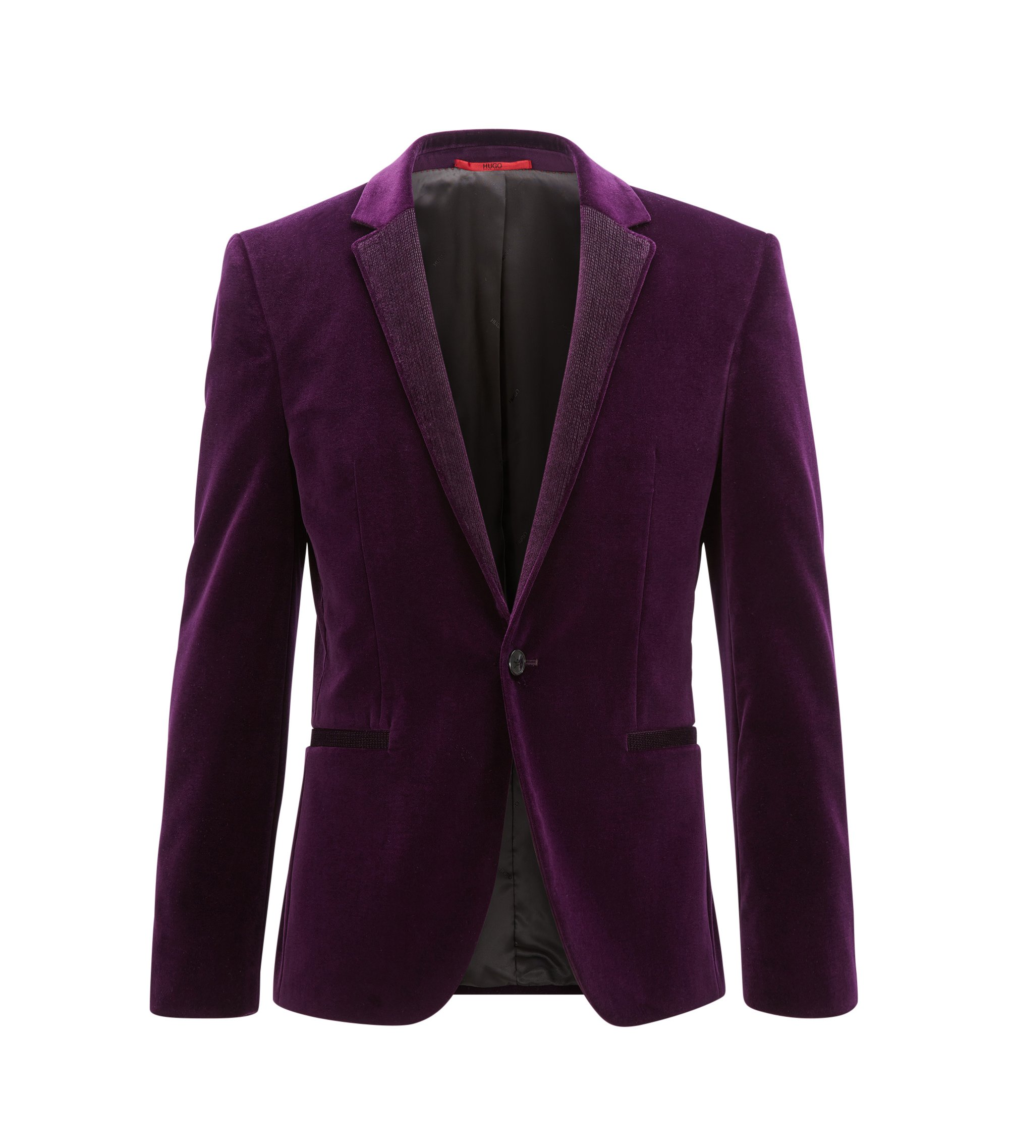 Velvet Sport Coat, Extra Slim Fit | Alwaro, Dark pink