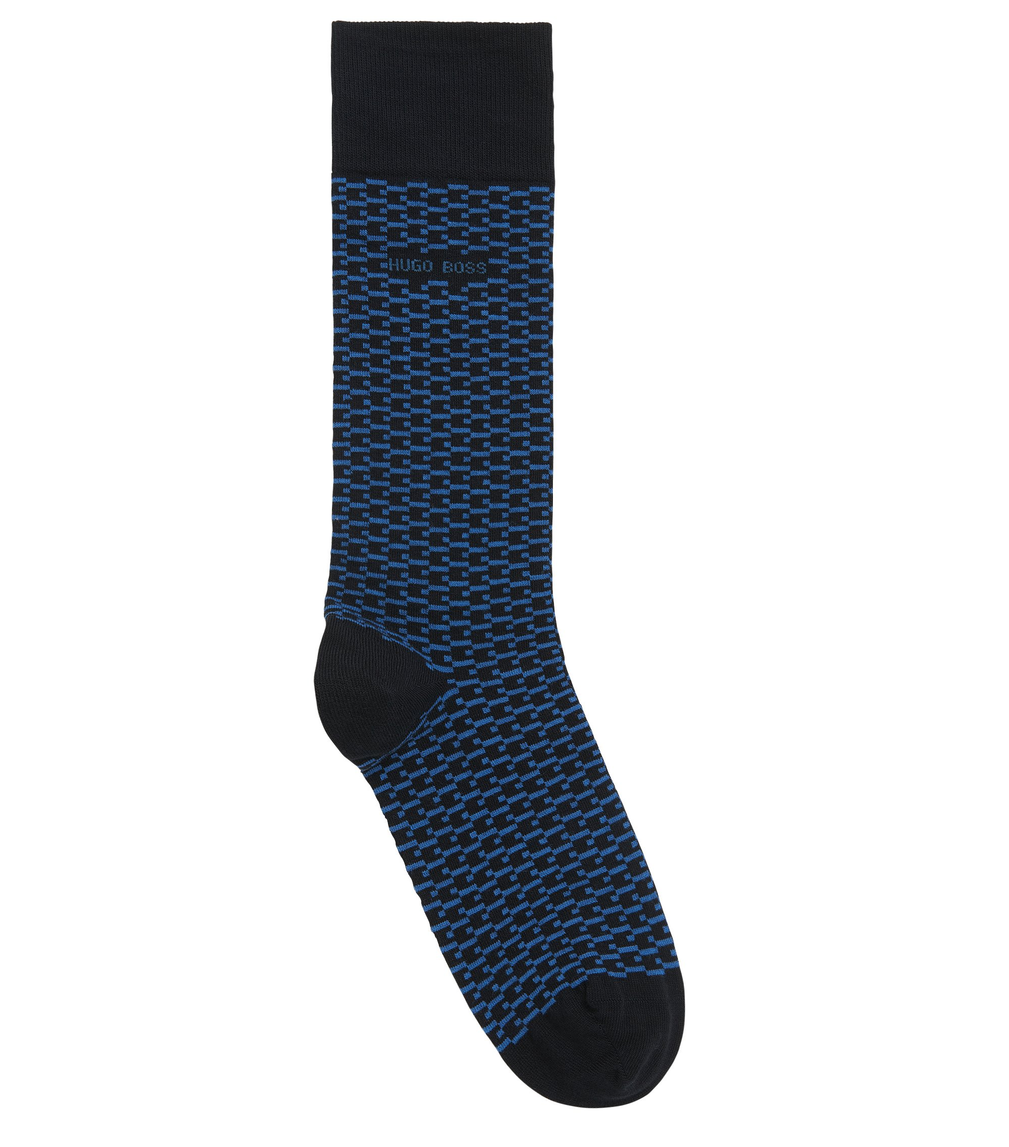 Stretch Cotton Blend Sock | RS MiniPattern US CC, Dark Blue