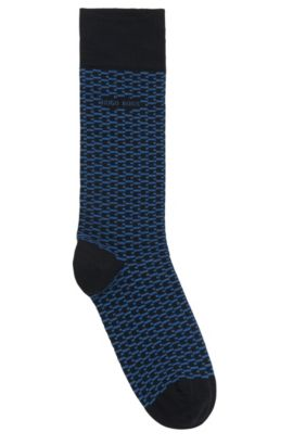 'RS MiniPattern US CC' | Stretch Cotton Blend Socks, Dark Blue