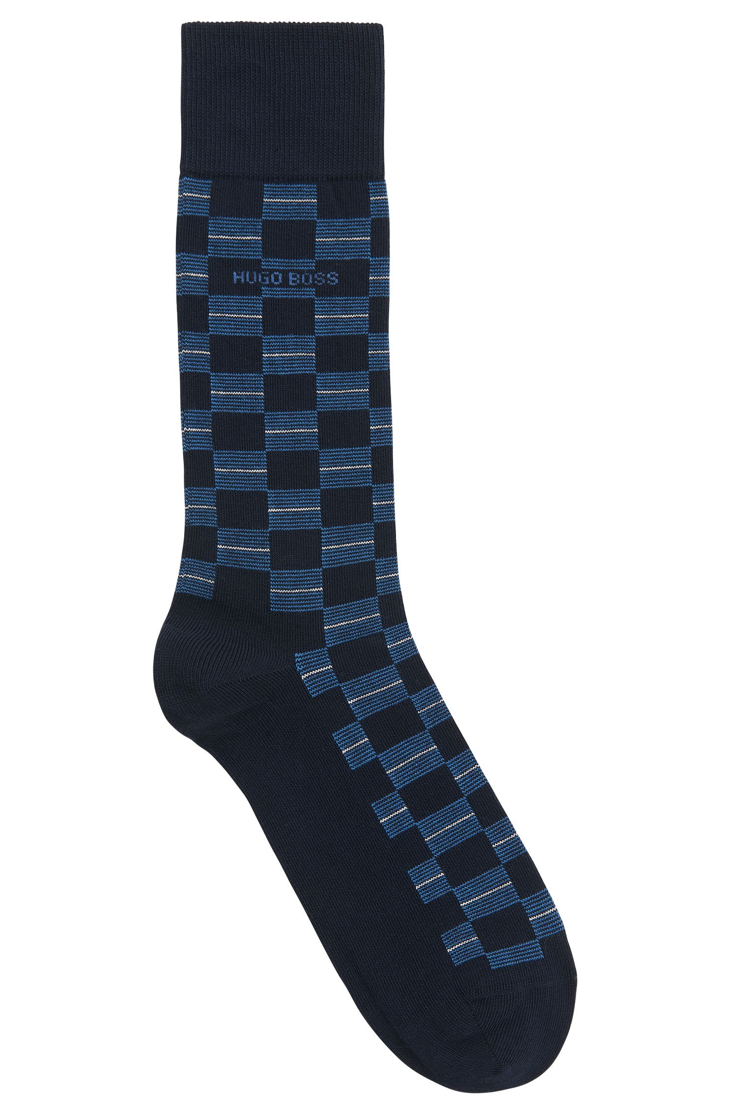 Checked Stretch Cotton Blend Socks | RS Check US CC