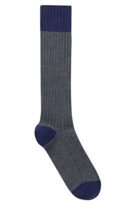 'RS Boot Sock US CC' | Stretch Cotton Blend Socks, Grey