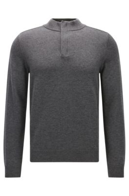 Cotton Virgin Wool Sweater | Napoleone, Grey