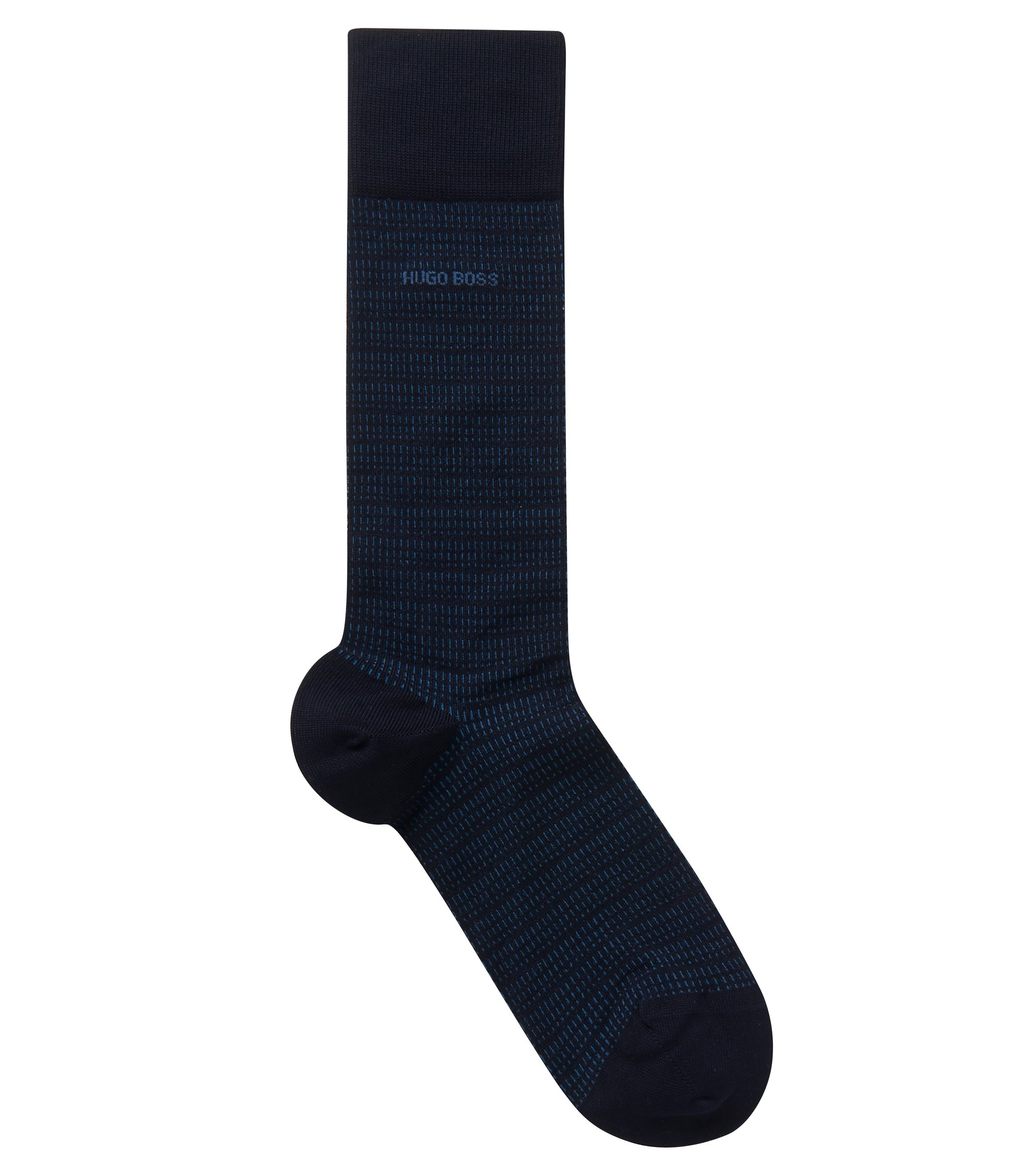 Stretch Cotton Blend Sock | RS MiniPattern US MC, Dark Blue