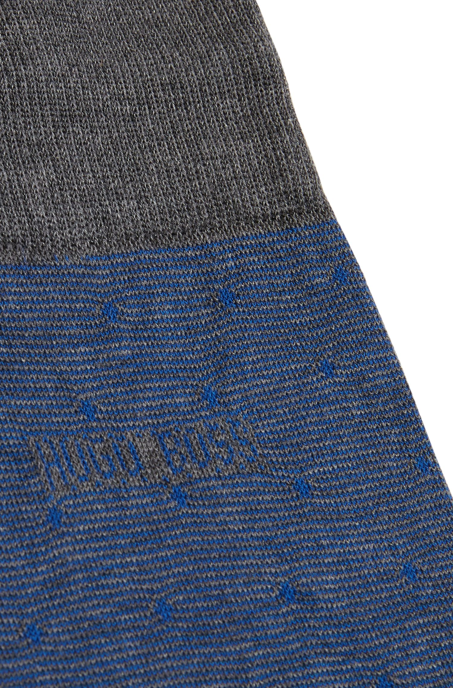 Regular-length socks in a cotton blend, Open Blue