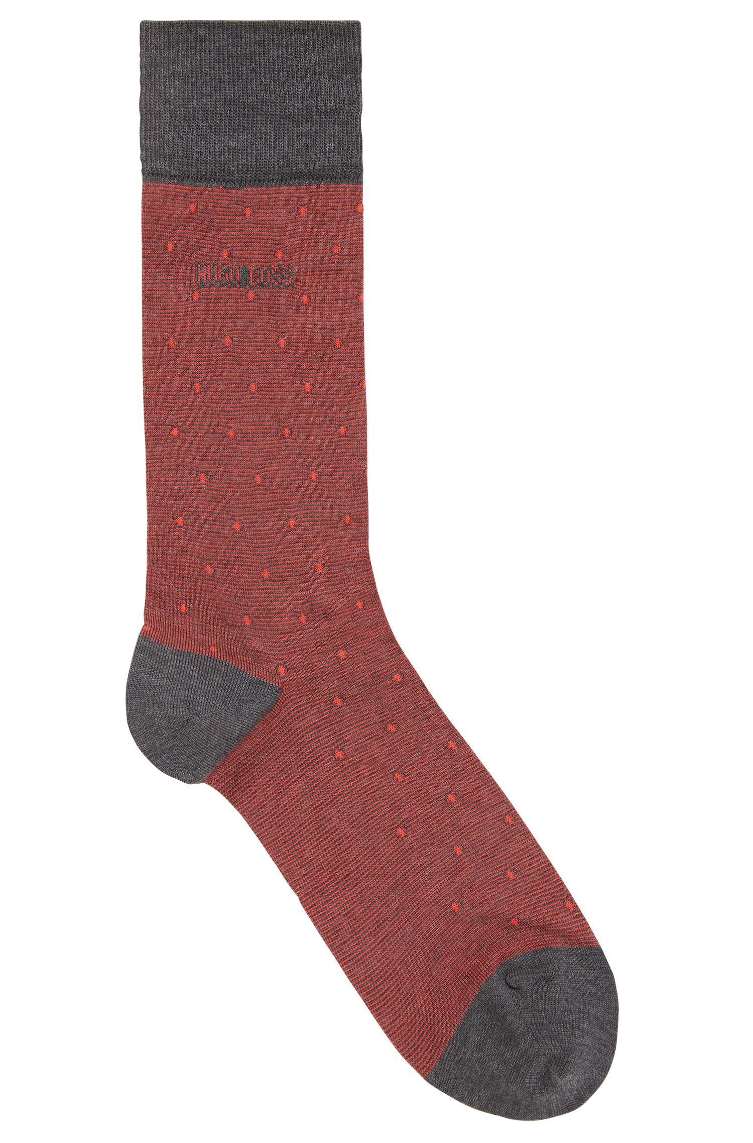 Regular-length socks in a cotton blend