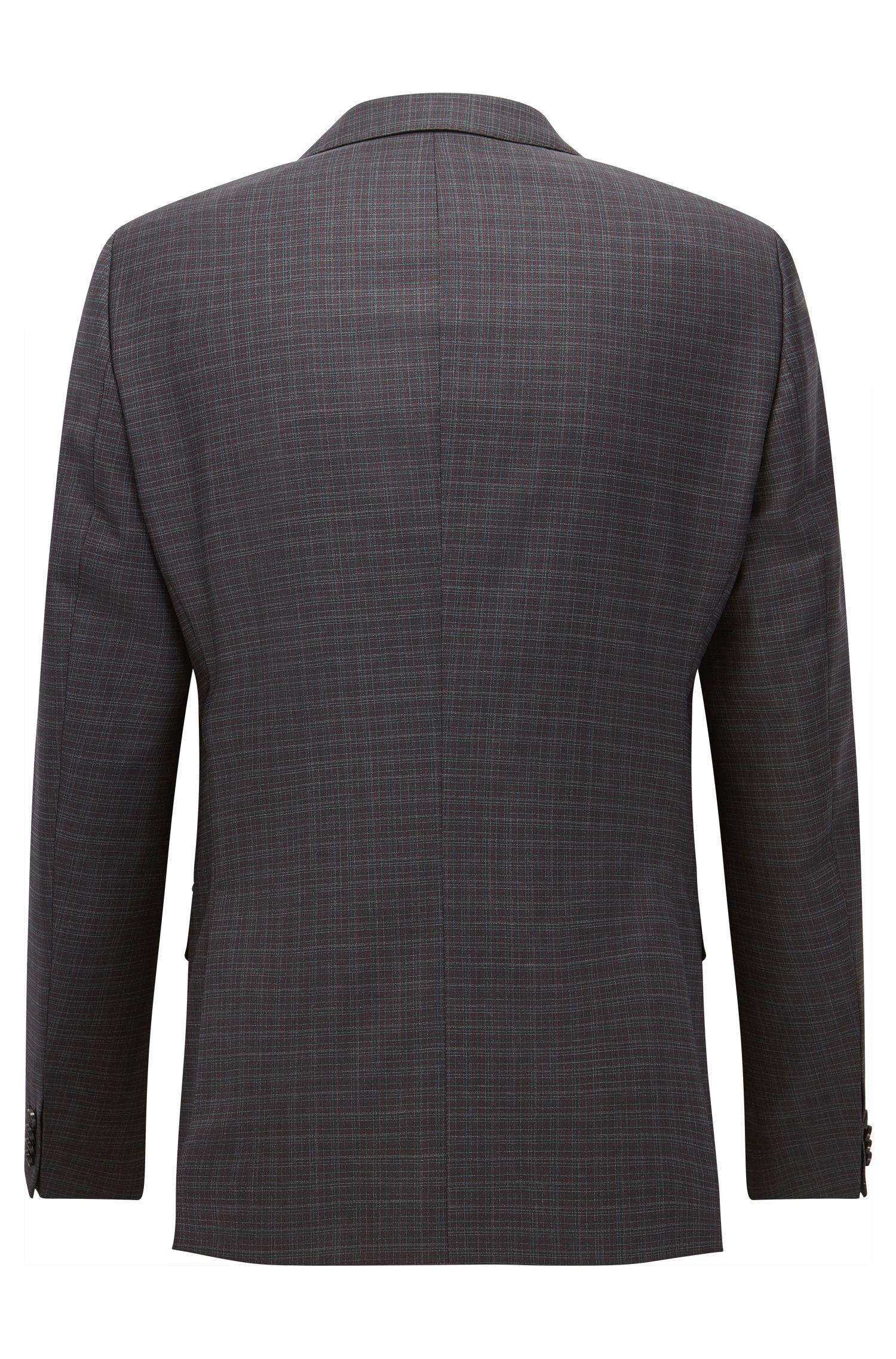 Plaid Virgin Wool Suit, Slim Fit | C-Huge/C-Genius