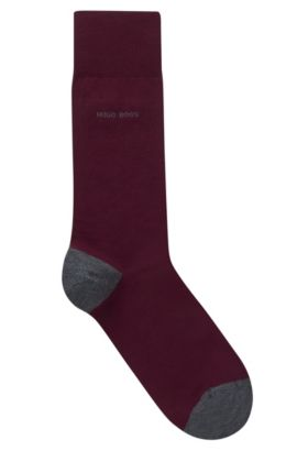 Contrast Socks| Marc RS Heel & Toe US, Dark Red