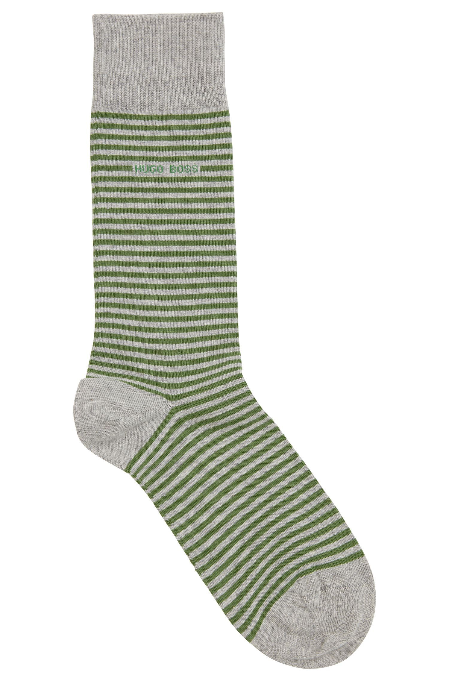 Striped Stretch Cotton Sock | Marc RS Stripe US, Green