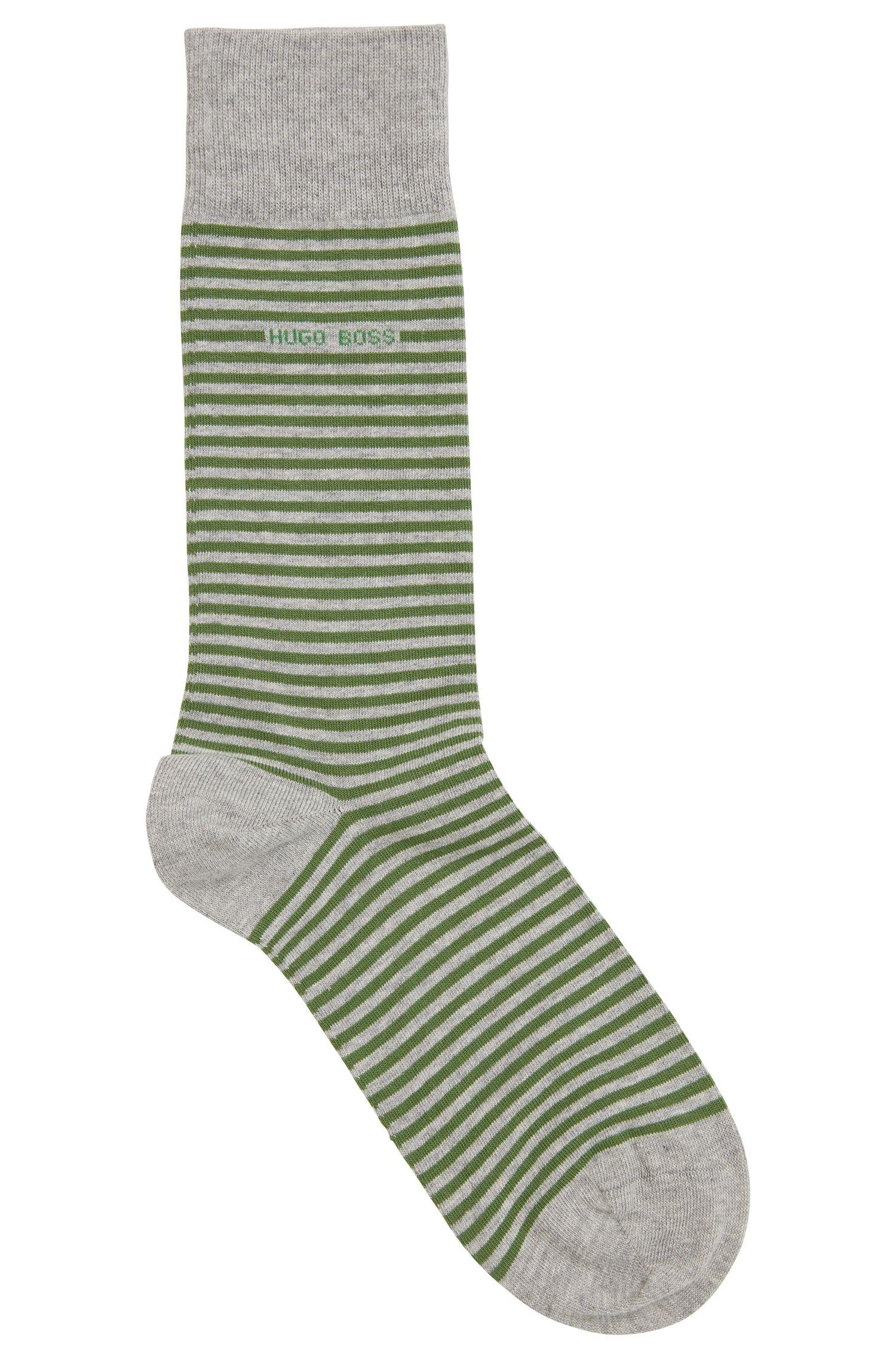 Striped Stretch Cotton Sock | Marc RS Stripe US