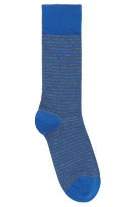 'Marc RS Stripe US' | Striped Stretch Cotton Socks, Blue