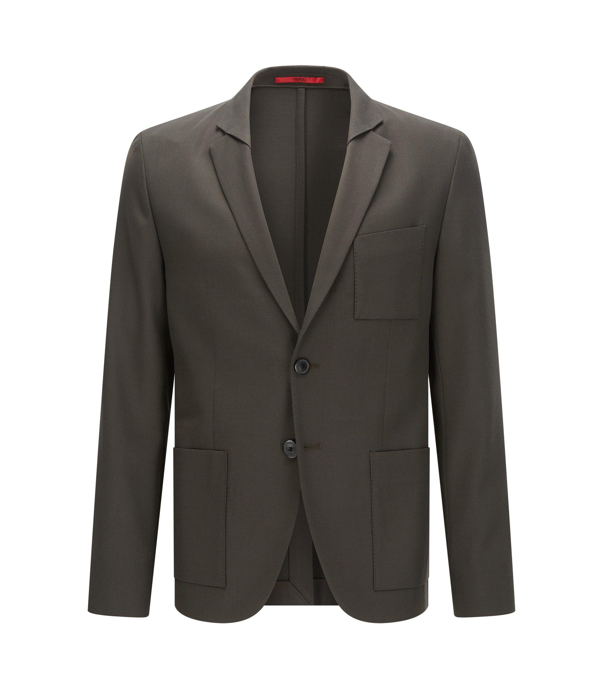 Wool Blend Sport Coat, Extra Slim Fit   Arthor, Dark Green